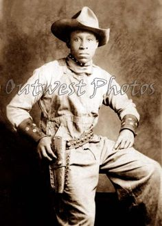 Old West Cowboys | ... OF A BLACK BUFFALO OLD WILD WEST COWBOY WITH LEATHER HOLSTER & CUFFS