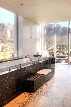 The Presidential Suite bathroom comes with a tub, a separate shower and a hammam steam room. Taj Cape Town (Cape Town, South Africa) - Jetsetter