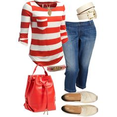 A Day at the Ball Park - Plus Size, created by kerimcd on Polyvore
