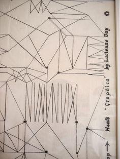 "bojkowski: "" Lucienne Day's 'Graphica' textile design """