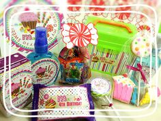 Goodie Bag candy themed #diy#candy#sweet#lolipop#birthday#bday#favour#marsha#ryumiru#cookies#juicycolor