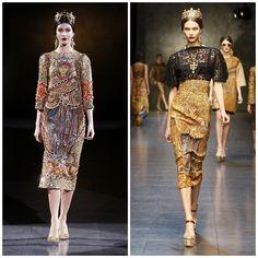 #fashion-ivabellini sfilata dolce gabbana autunno inverno 2013 2014 mosaico barocco croci corone milano fashion week