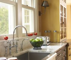 Eclectic Island Style kitchen, cabinets, KRW Design Associates,