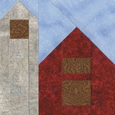 Bird Barn Quilt Block Pattern