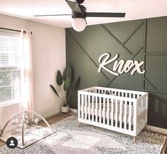 Baby Room Themes, Baby Boy Rooms, Baby Bedroom, Baby Room Decor, Baby Boy Nurseries, Nursery Room, Accent Wall Nursery, Nursery Decor, Baby Name Signs