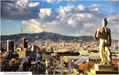 View of Barcelona seem from Montjuïc