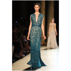 Elie Saab Runway Paris Fashion Week Haute Couture F/W 2013 ❤ liked on Polyvore