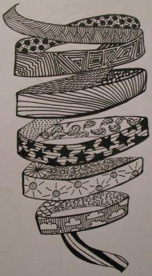 ribbon doodle