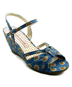 Another great find on #zulily! B.A.I.T. Blue Donna Wedge Sandal by B.A.I.T. #zulilyfinds