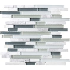 allen   roth Venatino Mixed Material Mosaic Wall Tile (Common: 12-in x 12-in; Actual: 11.88-in x 12-in)