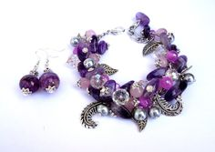 Hey, I found this really awesome Etsy listing at https://www.etsy.com/listing/186062455/amethyst-jewelry-set-chunky-charm