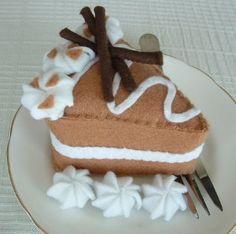 unique felt foods | Felt Food - Slice Of Coffee Cake | Shop food| Kaboodle
