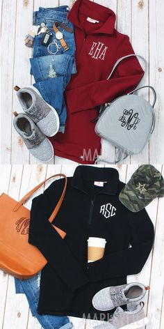 The Monogrammed Pullover Sweatshirt from Marleylilly is an easy casual look that keeps you cozy through the changing seasons.  Personalizing our pullover sweatshirt makes it the perfect gift for bridesmaids, teammates, graduates or anyone who loves a signature style.
