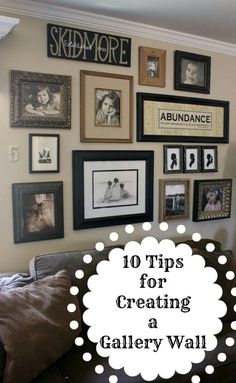 10 tips for creating a gallery wall, home decor, wall decor, 9 Start with larger objects in the middle and work the smaller objects in at the edges 10 Use different sized pictures And one last tip Hang things that you LOVE to look at Organisation Des Photos, Organization, Photowall Ideas, Images Murales, Diy Home Decor, Room Decor, Style Deco, My New Room, Create