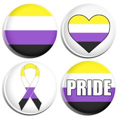 White Knot for Marriage Equality LGBT Gay Pride Gold Plated Pin Badge