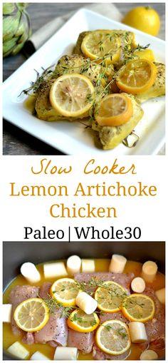 Slow Cooker Lemon Artichoke Chicken