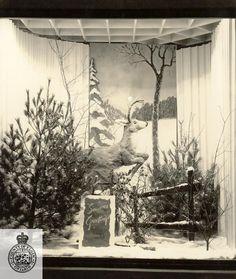 Anderson Department Store ~ County of Elgin, Ontario Canada (Christmas Window Display 1946)