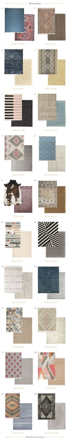 How to Mix Multiple Rugs In The Same Room | Emily Henderson | Bloglovin'