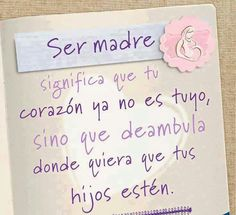 Ser madre