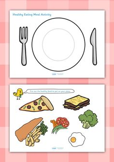 Twinkl resources >> healthy eating meal activity >> thousands of printable primary teaching resources for eyfs, and beyond! Healthy Eating Games, Healthy And Unhealthy Food, Healthy Snacks For Diabetics, Healthy Eating Recipes, Eat Healthy, Kids Cafe, Teaching Resources, Primary Teaching, Food Themes