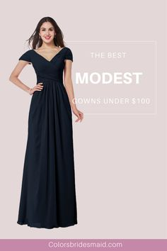 Our modest bridesmaid dresses are still of great style. There are 150+ colors to choose. They can be made to all sizes including plus size and are mostly sold under 100. How affordable bridesmaid dresses are they!