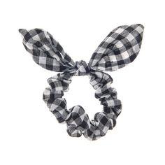 Black and White Gingham Print Ear Scrunchie Hair Jewelry, Jewelry Shop, Scrunchies, Gingham, Hair Accessories, Ear, Black And White, Beauty, Shopping