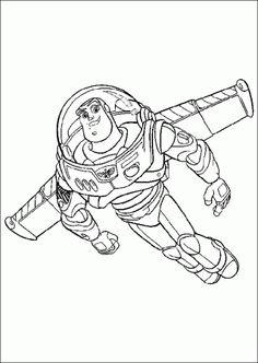 Colorear El Guerrero Espacial Buzz Lightyear Uno De Los