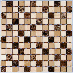 Mosaic Dark Light & Cream 23x23 Light Cream, Light In The Dark, Natural Stones, Mosaic, Mosaics, Mosaic Art