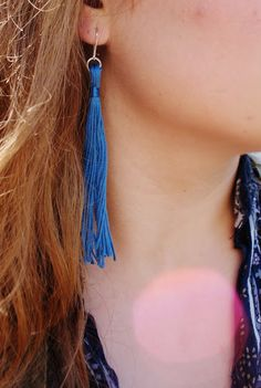 Make Do and Mend: How To: Make Tassel Earrings