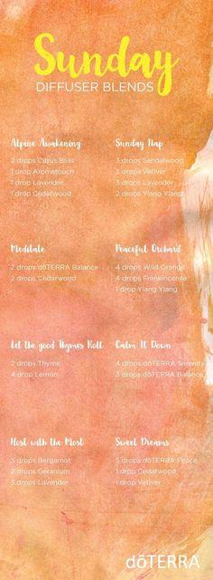 doTERRA essential oil blends for Sundays! | doTERRA essential oils