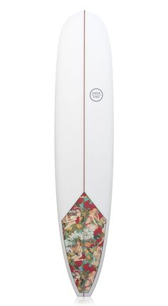 Watershed Surfboards 'Captain' Longboard 'Pin Up' Fabric Inlay