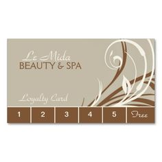 Beauty salon loyalty card punch card loyalty cards card beauty salon loyalty card punch card loyalty cards card templates and business cards colourmoves