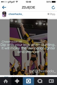 Follow cheerhacks_ on instagram for awesome cheer hacks