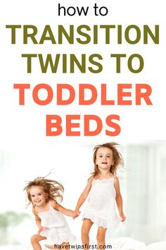 The ultimate guide reviewing how to transition twins to toddler beds. When you have twins it can be a little bit more complicated figuring out how to move them from their crib to a big kid bed. This post provides tips to make transitioning twins to toddler beds an easy and simple process. Twin Mom, Twin Babies, Twins Schedule, Toddler Sleep Training, Toddler Nap, Expecting Twins, Twin Toddlers, Raising Twins, Newborn Twins
