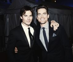 Ian Somerhalder and Matt Bomer attend the 34th Annual People's Choice Awards