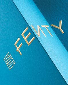 Brand New: New Logo, Identity, and Packaging for FENTY by Commission Custom Packaging, Brand Packaging, Luxury Logo, Luxury Branding, Pop Up Shops, Premium Brands, Visual Identity, Personal Identity, Identity Branding