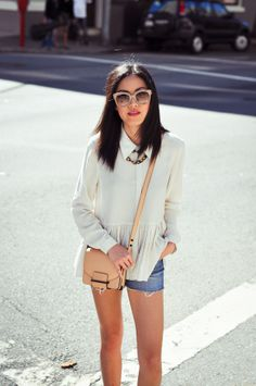 9to5Chic: Summer in October - The Mini bag in natural vachetta leather