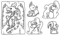 Spooky Mayan Neopets by ChaosKomori
