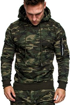 Outfits For Big Men, Stylish Mens Outfits, Mens Fashion Sweaters, Sweater Fashion, Hoodie Sweatshirts, Sweater Coats, Men Sweater, Camouflage Hoodie, Pullover Mode