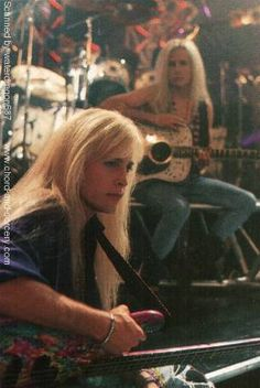 Matthew and Gunnar Nelson, circa during filming for the music video for 'More Than Ever,' from an article in Rock Beat magazine, exact issue unknown Gunnar Nelson, Ricky Nelson, Metal Bands, Rock Bands, Actors Then And Now, 80s Hair Bands, Glam Metal, Bruce Springsteen, Elvis Presley