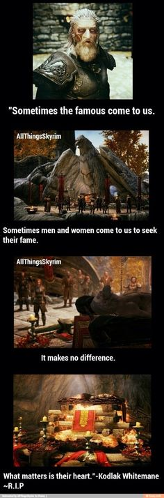 Ah... The Companions. The first group I joined in Skyrim. Not my favorite, but still one I will always love. I was sad to see him die. I teared up when I read his journal. My vengeance will still burn until I see every last Silver Hand dead.