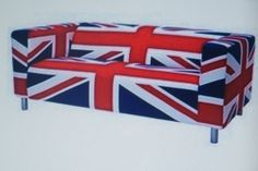 New Ikea Klippan two seat sofa COVER ONLY....UNION JACK ...Degerbyn