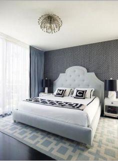 Light Blue Gray Palette Bedroom Set for dream home :)