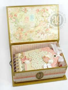 Annette's Creative Journey: Baby mini album and matching box.