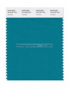 Pantone Smart 18-4735 TCX Color Swatch Card, Tile Blue - Pantone