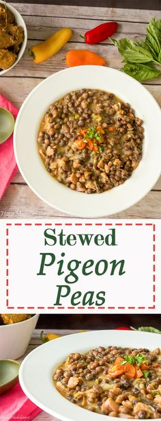 "An easy ""how to"" recipe for stewed pigeon peas using tin pigeon peas and cooked with smoked turkey."