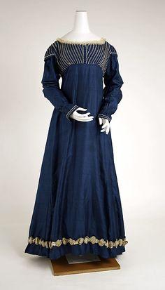 Dress Date: ca. 1815 Culture: European Medium: silk