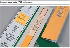 Kenzo Fashion week A/W 2012 invitations