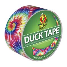 Printed Duck® Brand Duct Tape - Love Tie Dye http://duckbrand.com/products/duck-tape/prints/standard-rolls/love-tie-dye-188-in-x-10-yd?utm_campaign=color-duck-tape-general&utm_medium=social&utm_source=pinterest.com&utm_content=printed-duct-tape