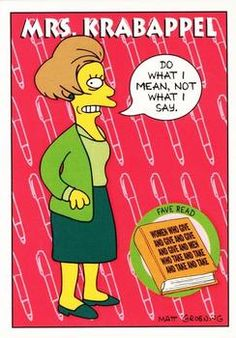 1993 SkyBox The Simpsons #S12 Mrs. Krabappel | Trading Card Database Tv Funny, Dysfunctional Family, Collector Cards, Trading Card Database, Trivia, Bart Simpson, Animation, Trading Cards, The Simpsons